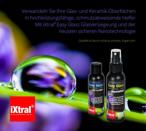 Dauerhafte Easy-to-Clean Oberflächen mit Lotuseffekt durch Nanoversiegelung mit iYtral Easy Glass Glasversiegelung