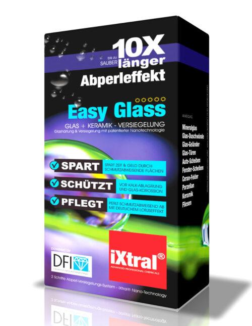 iXtral Easy Glass Nanoversiegelung Glasversiegelung DFI Easy-to-Clean Flächen mit Lotuseffekt für Glas-Flächen und Fliesen
