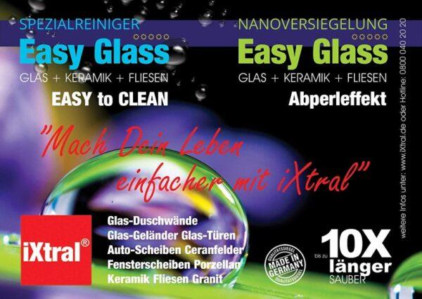 Mach Dein Leben einfacher mit iXtral Glasversiegelung Nanoversiegelung für Dusche Duschkabine Duschwand mit Lotuseffekt