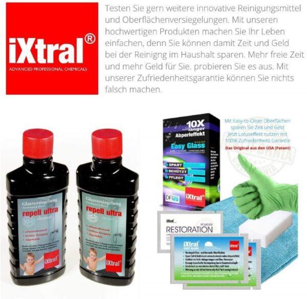 Weitere Reinigngsmittel und Oberflächenversiegelungen von iXtral