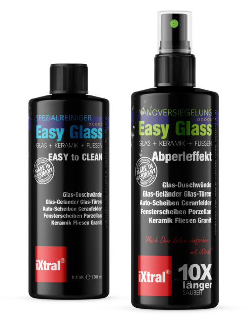 iXtral Easy Glass Nanoversiegelung für Easy-to-Clean Abperleffekt Lotuseffekt an Dusche Glas Fliesen Portellan N4Y
