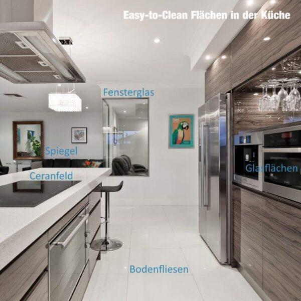 iXtral Nanoversiegelung für Flächen in der Küche wie Ceranfeld Fensterscheiben Spiegel Glasfronten Bodenfliesen Wandfliesen