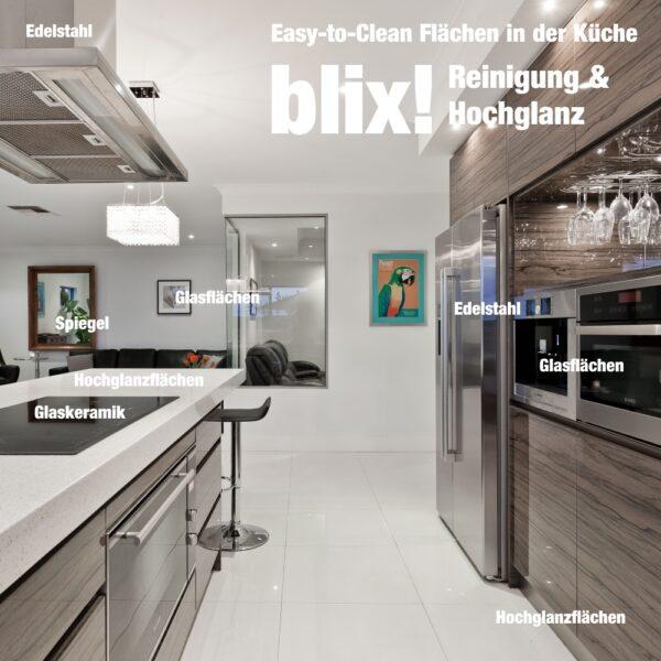 Hochglanz und Schutz für glatte Oberflächen in Küche und Bad