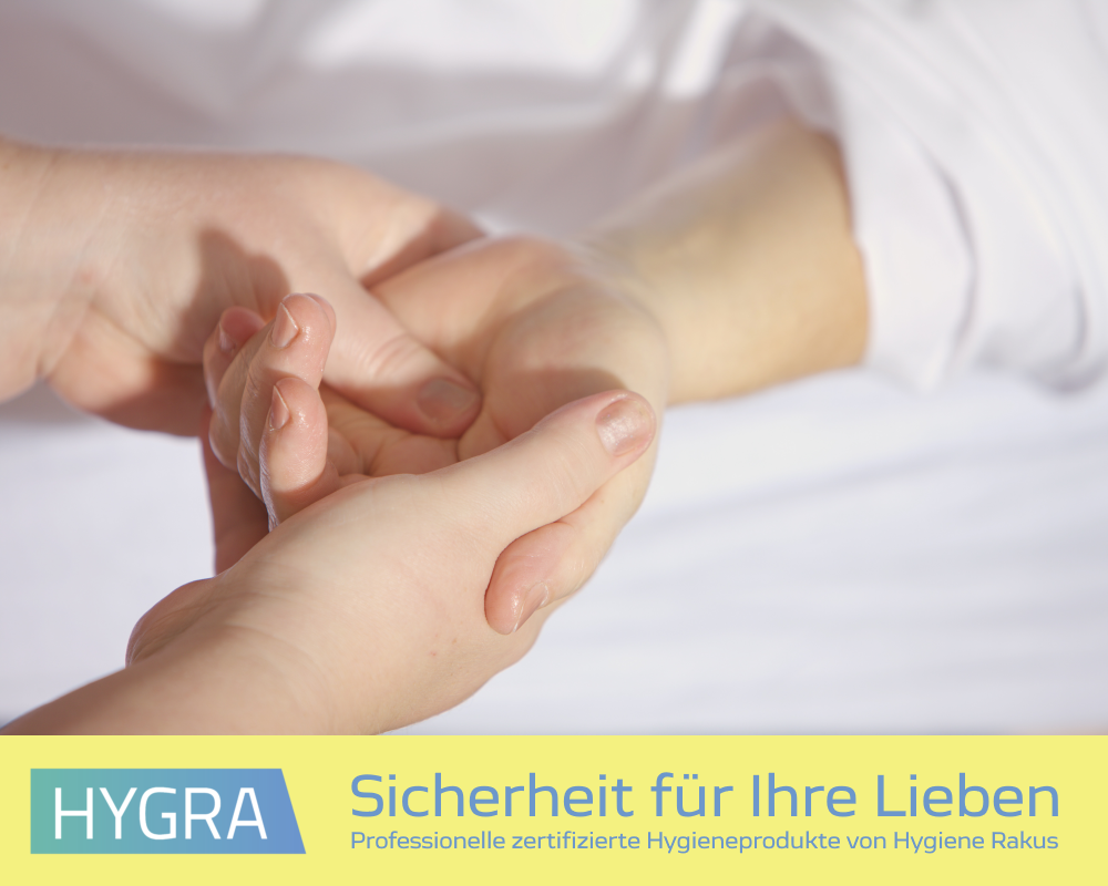 Hygienische Sicherheit für Ihre Familie und Angehörigen durch professionelle Desinfektionsmittel von HYGRA