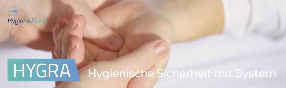 Hygiene Rakus - hygienische Sicherheit mit System - Händedesinfektion Flächendesinfektion Reinigungsmittel