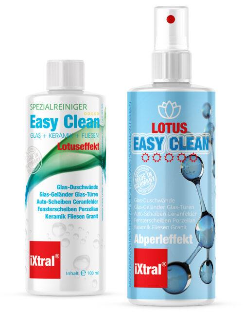 iXtral EASY CLEAN Flächen Versiegelung für schmutzabweisenden Abperleffekt an Glas Keramik Fliesen Porzellan in Küche und Bad